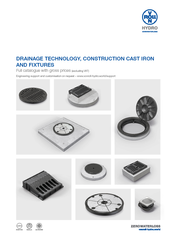 Drainage Technology, Construction Cast Iron and Fixtures Download catalogue as PDF