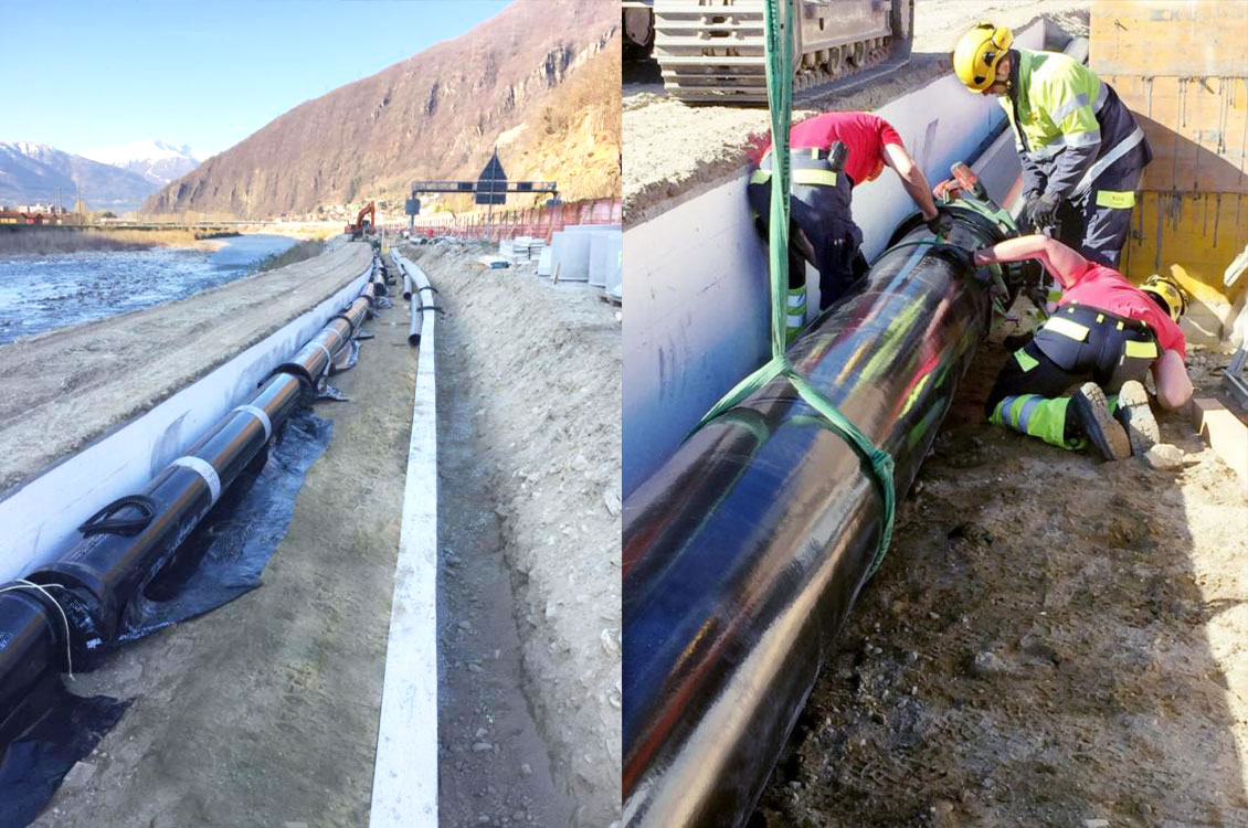 drinking water transport pipelines for Bellinzona